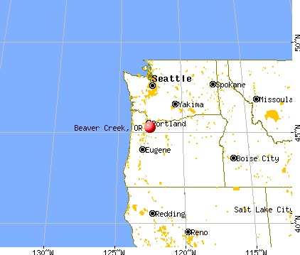 Beaver Creek, Oregon map