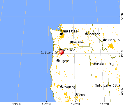 Colton, Oregon map