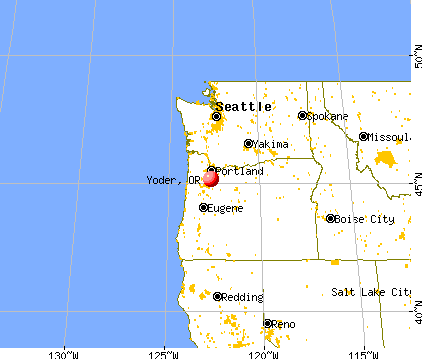Yoder, Oregon map