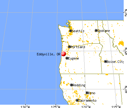 Eddyville, Oregon map