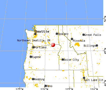 Northeast Umatilla, Oregon map