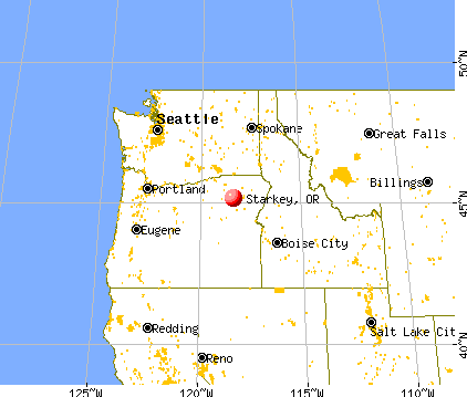 Starkey, Oregon map