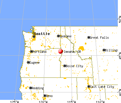 Imnaha, Oregon map