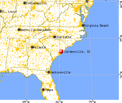 Cordesville, South Carolina map