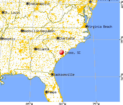 Cross, South Carolina map