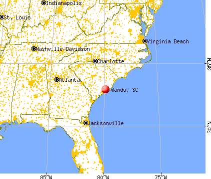 Wando, South Carolina map