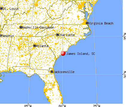James Island, South Carolina map