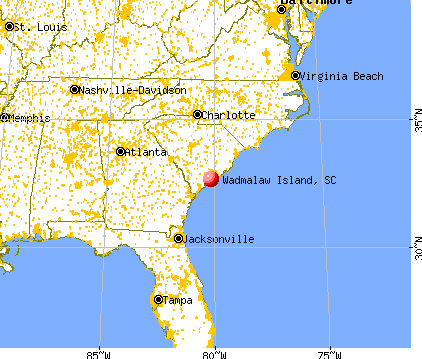 Wadmalaw Island, South Carolina map