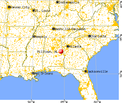 Milltown, Alabama map