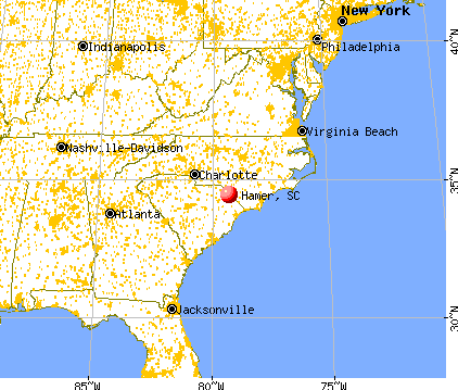 Hamer, South Carolina map