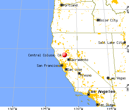 Central Colusa, California map