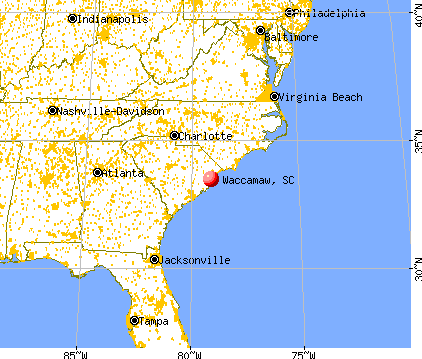 Waccamaw, South Carolina map