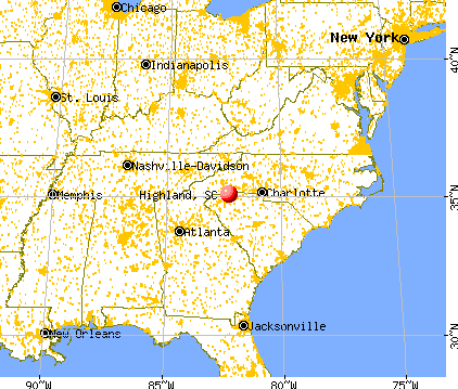 Highland, South Carolina map