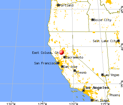 East Colusa, California map