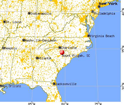 Mount Pisgah, South Carolina map