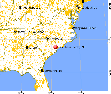 Brittons Neck, South Carolina map
