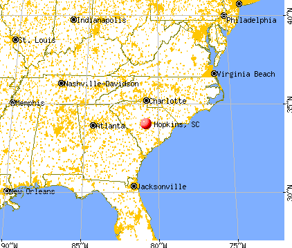 Hopkins, South Carolina map