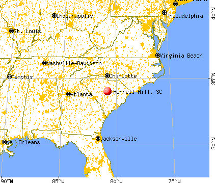 Horrell Hill, South Carolina map
