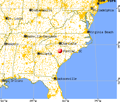 Pontiac, South Carolina map