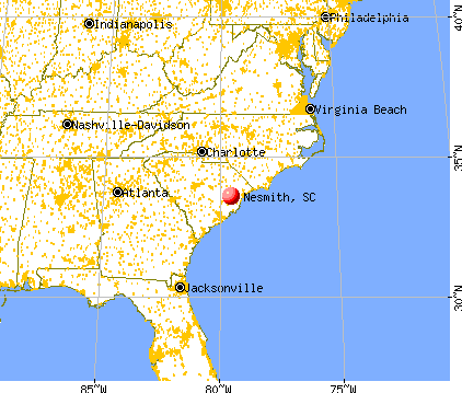 Nesmith, South Carolina map