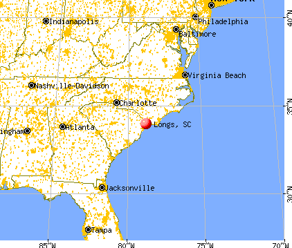 Longs, South Carolina map