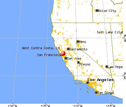 West Contra Costa, California map