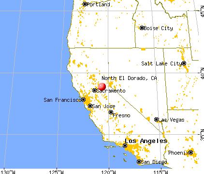 North El Dorado, California map