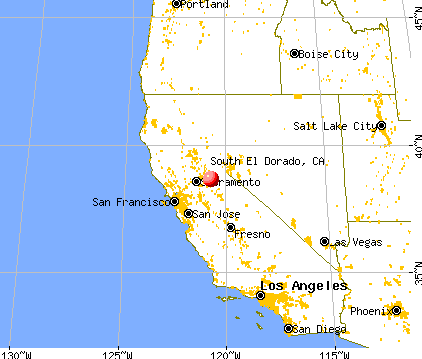 South El Dorado, California map