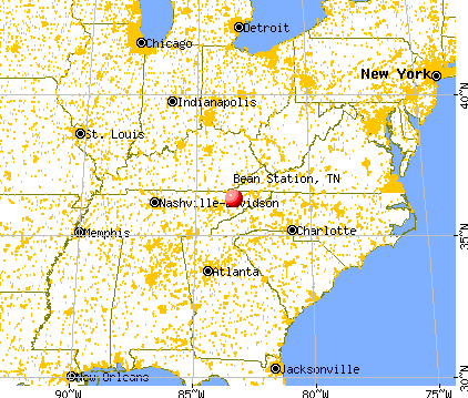 Bean Station, Tennessee map