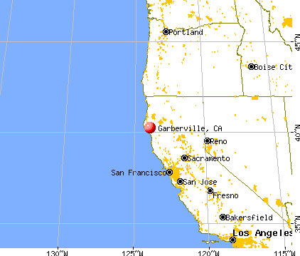 Garberville, California map