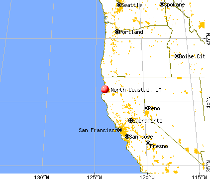 North Coastal, California map