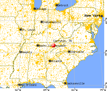 Corryton, Tennessee map