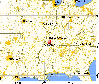 Huntersville, Tennessee map