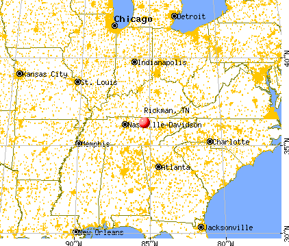 Rickman Tennessee TN Profile Population Maps Real - Tennessee map with cities