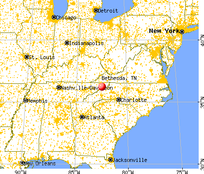 Bethesda Tennessee TN 37046 profile population maps real