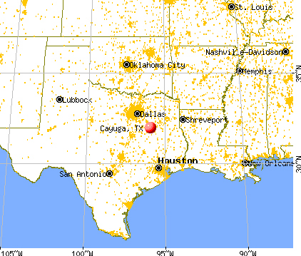Cayuga, Texas map