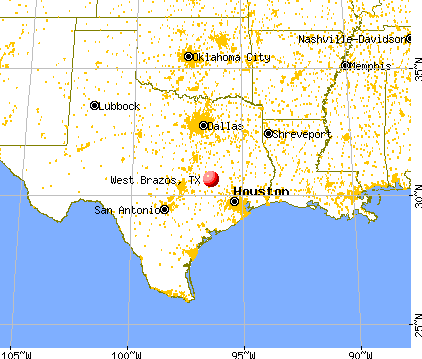 West Brazos, Texas map