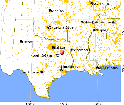 Mount Selman, Texas map