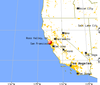 Ross Valley, California map