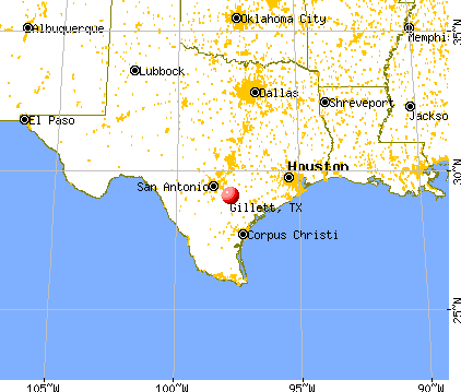 Gillett, Texas map