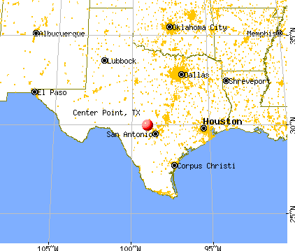 Center Point, Texas map