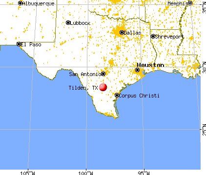 Tilden, Texas map