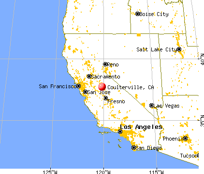 Coulterville, California map