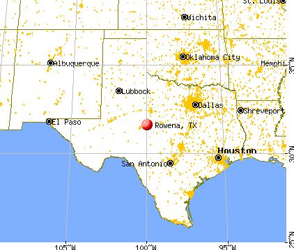 Rowena Texas Tx 76875 Profile Population Maps Real