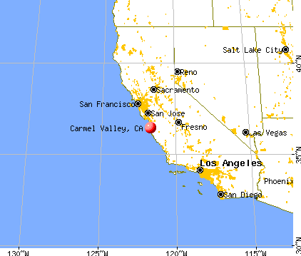 Carmel Valley, California map