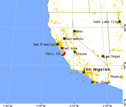 Toro, California map