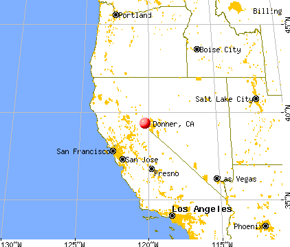 Donner, California map