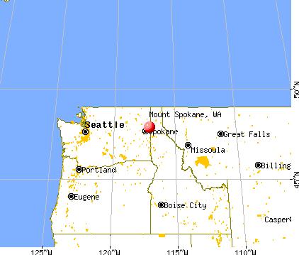 Mount Spokane, Washington map