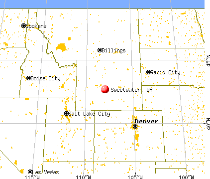 Sweetwater Wyoming WY Profile Population Maps Real - Wyoming state map with cities