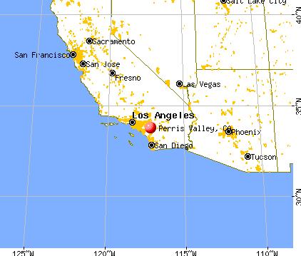 Perris Valley, California map